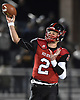 Daniel Villari #2, Plainedge quarterback, throws a pass during the first quarter of the Nassau County football Conference III semifinals against Lynbrook at Shuart Stadium in Hempstead on Saturday, Nov. 10, 2018.