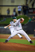 Siena Saints relief pitcher Nick Bruno (32) during a game against the UCF Knights on February 17, 2017 at UCF Baseball Complex in Orlando, Florida.  UCF defeated Siena 17-6.  (Mike Janes/Four Seam Images)