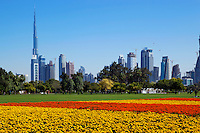 United Arab Emirates, Dubai: View of Burj Khalifa (world's tallest building) and Dubai skyline from Al Safa Park | Vereinigte Arabische Emirate, Dubai: Al Safa Park und Skyline mit dem Burj Khalifa