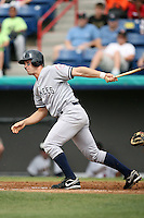 April 15, 2009:  Eric Fryer of the Tampa Yankees, Florida State League Class-A affiliate of the New York Yankees, during a game at Space Coast Stadium in Viera, FL.  Photo by:  Mike Janes/Four Seam Images