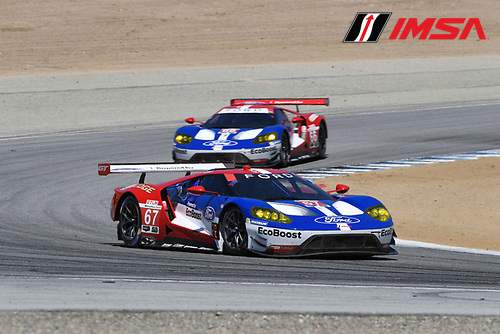 29 April - 1 May, 2016, Monterey, CaliforniaUSA<br /> 67, Ford GT, GT, GTLM, Ryan Briscoe, Richard Westbrook ,66, Ford GT, GT, GTLM, Joey Hand, Dirk Muller<br /> &copy;2016, Richard Dole<br /> LAT Photo USA