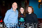 The Kelly family from Tralee enjoying the evening in the Imperial Hotel on Saturday.<br /> L to r: Aidan, Aisling and Susan Kelly.