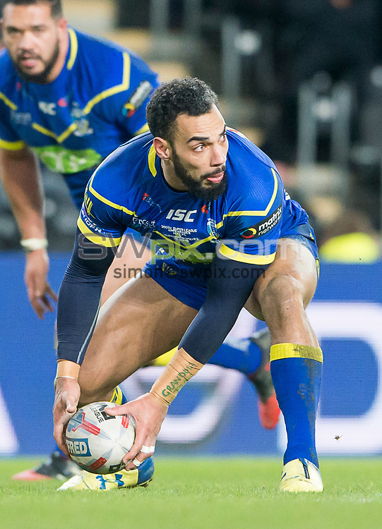 Picture by Allan McKenzie/SWpix.com - 02/03/2018 - Rugby League - Betfred Super League - Hull FC v Warrington Wolves - KC Stadium, Kingston upon Hull, England - Ryan Atkins.