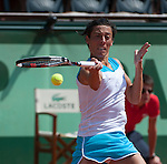 Francesca Sciavone (ITA) defeats Kimiko Date-Krumm (JPN 6-3, 6-1.