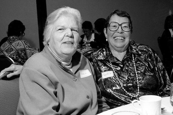 Del Martin and Phyllis Lyons at Daughters of Bilitus Boston 25th Anniversary Celebration Cambridge MA November 13, 1994