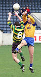 Action from St. Mary's, Drogheda V St. Benildus, Stillorgan in Parnell Park..Picture Paul Mohan Newsfile