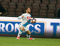 Dries Mertens  during the  italian serie a soccer match,between SSC Napoli and Juventus       at  the San  Paolo   stadium in Naples  Italy , April 02, 2017