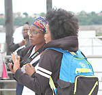 Another World's and singer Rhonda Ross and friend - she sang the National Anthem  - Hearts of Gold 7th Annual Run/Walk for Kids with proceeds from this fun family event will change the futures of homeless mothers and their children on June 3, 2017 at Pier 84 Hudson Parks, New York City, New York. It supports Hearts of Gold Annual Back to School Programs. (Photo by Sue Coflin/Max Photos)