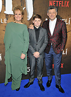 Lorraine Ashbourne, Louis Ashbourne Serkis and Andy Serkis at the &quot;Mowgli: Legend of the Jungle&quot; Netflix special screening, Curzon Mayfair, Curzon Street, London, England, UK, on Tuesday 04 December 2018. <br /> CAP/CAN<br /> &copy;CAN/Capital Pictures