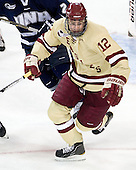 Kevin Hayes (BC - 12) - The Boston College Eagles defeated the visiting University of New Hampshire Wildcats 4-3 on Friday, January 27, 2012, in the first game of a back-to-back home and home at Kelley Rink/Conte Forum in Chestnut Hill, Massachusetts.