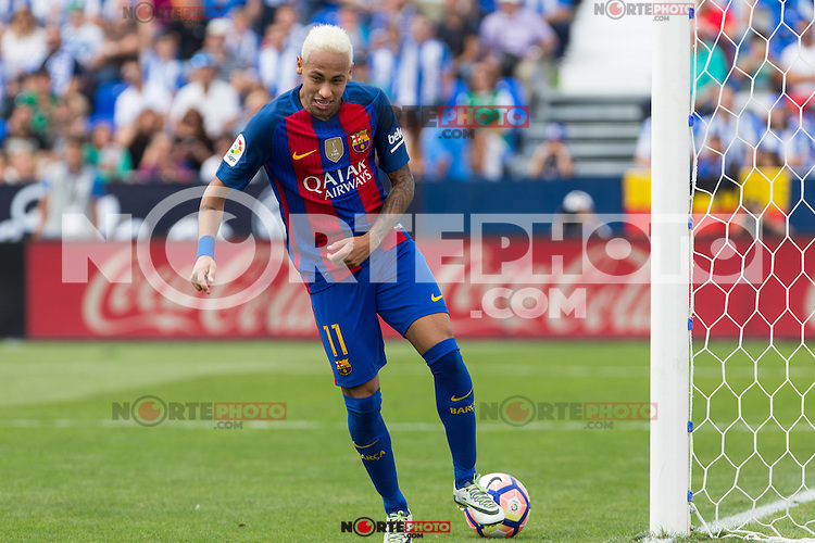 FC Barcelona's Neymar Santos Jr during the match of La Liga between Club Deportivo Leganes and Futbol Club Barcelona at Butarque Estadium in Leganes. September 17, 2016. (ALTERPHOTOS/Rodrigo Jimenez) /NORTEPHOTO