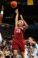 January 10, 2010.  Stanford's Rosalyn Gold-Unwude in action against UCLA.  The Cardinal defeated the Bruins, 65-61.LOS ANGELES, CA - JANUARY 10:  Rosalyn Gold-Onwude of the Stanford Cardinal during Stanford's 65-61 win against the UCLA Bruins on January 10, 2010 at Pauley Pavilion in Los Angeles, California.