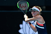 9th January 2018, Sydney Olympic Park Tennis Centre, Sydney, Australia; Sydney International Tennis, round 1; Olivia Rogowska (AUS) in her match against Daria Gavrilova (AUS)