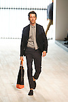 October 16, 2011: Tokyo, Japan - A model walks down the catwalk wearing Paul Smith during the Mercedes-Benz Fashion Week Tokyo 2012 S/S. The Mercedes-Benz Fashion Week Tokyo runs from October 16-22. (Photo by Christopher Jue/AFLO)