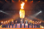 The Paralympic Flame is lit during the opening ceremonies for the 2010 Paralympic Games in Vancouver.