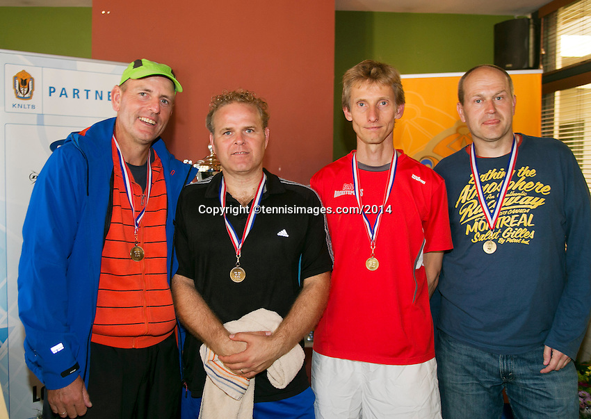 August 24, 2014, Netherlands, Amstelveen, De Kegel, National Veterans Championships, Prizegiving, <br /> Photo: Tennisimages/Henk Koster