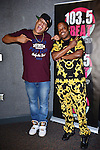 MIRAMAR, FL - JUNE 17: (EXCLUSIVE COVERAGE) Rapper Ma$e (R) pose for picture with DJ Epps seat down for a interview with K. Foxx at 103.5 The Beat radio station on Tuesday June 17, 2014 in Miramar, Florida. (Photo by Johnny Louis/jlnphotography.com)