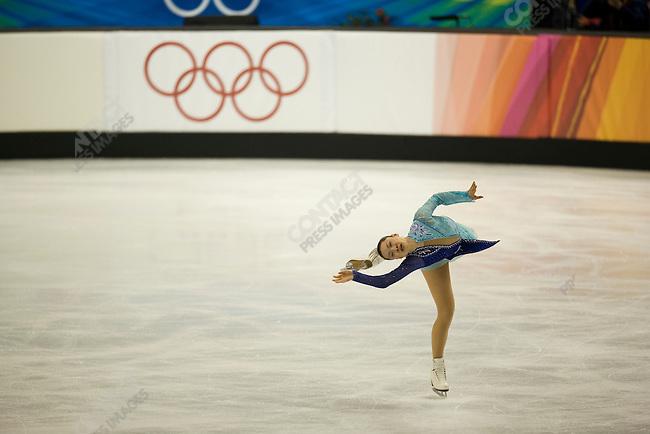 Women's free skating final at the Palavela during the Torino Winter Olympics. Gold medalist Shizuka Arakawa of JPN.
