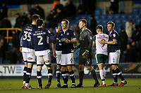 Millwall players congratulate each other at the final whistle after knocking Barnsley out of the FA Cup during Millwall vs Barnsley, Emirates FA Cup Football at The Den on 6th January 2018