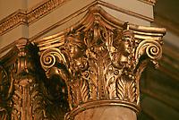 Europe/Monaco/Monte Carlo: Hotel de Paris - Détail des salons de réception - Détail déco