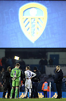 Leeds United's Bailey Peacock-Farrell is interviewed for TV at the final whistle<br /> <br /> Photographer Rich Linley/CameraSport<br /> <br /> The EFL Sky Bet Championship - Leeds United v Reading - Tuesday 27th November 2018 - Elland Road - Leeds<br /> <br /> World Copyright &copy; 2018 CameraSport. All rights reserved. 43 Linden Ave. Countesthorpe. Leicester. England. LE8 5PG - Tel: +44 (0) 116 277 4147 - admin@camerasport.com - www.camerasport.com