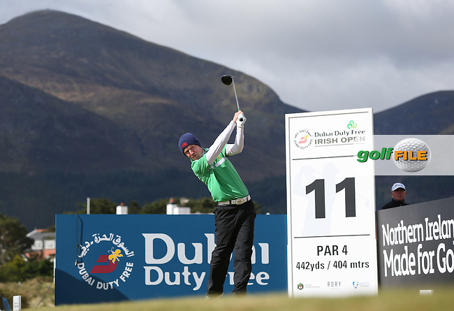Gavin Moynihan (AM-IRL) drives from the 11th during Round Two of the 2015 Dubai Duty Free Irish Open Hosted by The Rory Foundation at Royal County Down Golf Club, Newcastle County Down, Northern Ireland. 29/05/2015. Picture David Lloyd | www.golffile.ie