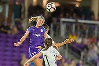 Orlando, FL - Saturday August 12, 2017: Dani Weatherholt during a regular season National Women's Soccer League (NWSL) match between the Orlando Pride and Sky Blue FC at Orlando City Stadium.
