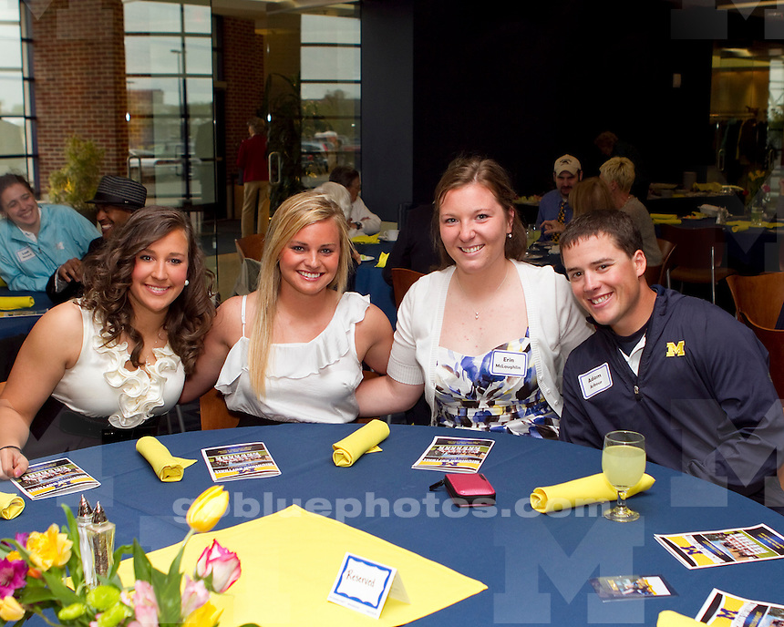 University of Michigan softball team senior banquet at the Junge Champions Center in Ann Arbor, MI, on May 16, 2011.