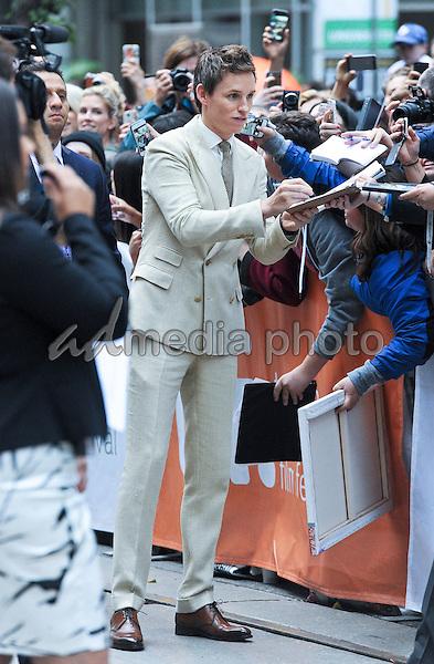 "12 September 2015 - Toronto, Ontario, Canada - Eddie Redmayne. ""The Danish Girl"" Premiere during the 2015 Toronto International Film Festival held at  Princess of Wales Theatre. Photo Credit: Brent Perniac/AdMedia"