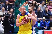 Rasid Mahalbasic (EWE Baskets Oldenburg) gegen Jonas Wohlfahrt-Bottermann (Fraport Skyliners) - 05.11.2017: Fraport Skyliners vs. EWE Baskets Oldenburg, Fraport Arena Frankfurt