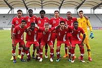 The Canada U21Team Photo. Top Row (L-R) Thelonius Bair, Noble Okello Ayo, Julian Dunn, David Norman, Derek Cornelius, James Pantemis. Front Row (L-R) Shamit Shome, Clement Bayiha, Noah Verhoeven, Mathieu Choiniere and Daniel Kinumbe  during Japan Under-21 vs Canada Under-21, Tournoi Maurice Revello Football at Stade Parsemain on 3rd June 2018
