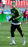 26 March 2011: Portland Timbers forward Kenny Cooper #33 in action during the warm-up in an MLS game between the Portland Timbers and the Toronto FC at BMO Field in Toronto, Ontario Canada..Toronto FC won 2-0....