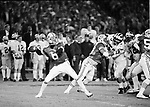 FTB 712 U-9a<br /> <br /> 1984 Holiday Bowl, Michigan State<br /> <br /> Quarterback 6 Robbie Bosco goes back to pass<br /> <br /> Photography by Mark A. Philbrick<br /> <br /> &copy; BYU PHOTO 2009<br /> All Rights Reserved<br /> photo@byu.edu  (801)422-7322
