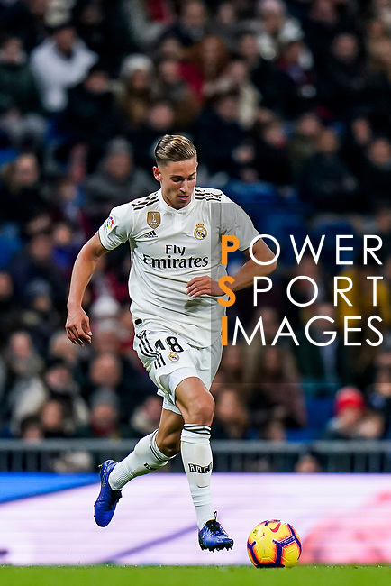 Marcos Llorente of Real Madrid in action during the La Liga 2018-19 match between Real Madrid and Rayo Vallencano at Estadio Santiago Bernabeu on December 15 2018 in Madrid, Spain. Photo by Diego Souto / Power Sport Images