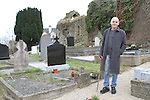 Brendan Matthews gives a history talk in Stamullen Graveyard...(Photo credit should read Jenny Matthews/NEWSFILE)...