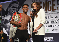 LOS ANGELES - SEPTEMBER 27: Earl Spence Jr. and Heidi Androl attend the weigh-in for the September 28 Fox Sports PBC Pay-Per-View fight night in Los Angeles, California. (Photo by Frank Micelotta/Fox Sports/PictureGroup)