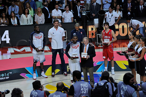 14.09.2014. Madrid, Spain. FIBA World Championship Basketball Final. MVP Kirie Irving.