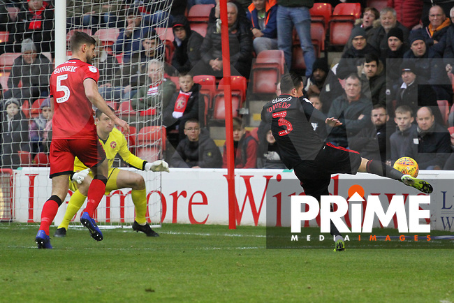 Bryan Oviedo (Sunderland AFC) during the Sky Bet League 1 match between Walsall and Sunderland at the Banks's Stadium, Walsall, England on 24 November 2018. Photo by James  Gill / PRiME Media Images.