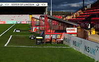 A general view of Sincil Bank, home of Lincoln City FC<br /> <br /> Photographer Andrew Vaughan/CameraSport<br /> <br /> The EFL Sky Bet League Two - Lincoln City v Forest Green Rovers - Saturday 3rd November 2018 - Sincil Bank - Lincoln<br /> <br /> World Copyright © 2018 CameraSport. All rights reserved. 43 Linden Ave. Countesthorpe. Leicester. England. LE8 5PG - Tel: +44 (0) 116 277 4147 - admin@camerasport.com - www.camerasport.com