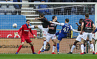 Wigan Athletic's Joe Garner scoring his side's first goal <br /> <br /> Photographer Andrew Kearns/CameraSport<br /> <br /> The EFL Sky Bet Championship - Wigan Athletic v Bolton Wanderers - Saturday 16th March 2019 - DW Stadium - Wigan<br /> <br /> World Copyright &copy; 2019 CameraSport. All rights reserved. 43 Linden Ave. Countesthorpe. Leicester. England. LE8 5PG - Tel: +44 (0) 116 277 4147 - admin@camerasport.com - www.camerasport.com