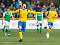 9th February 2020; Indodrill Stadium Alloa, Alloa Clackmannashire, Scotland; Scottish Cup Football, BSC Glasgow versus Hibernian; Ross Smith of BSC Glasgow FC celebrates after scoring BSC first goal for 1-2 in the 38th minute