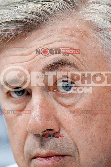 Italian coah of Real Madrid soccer team Carlo Ancelotti during a press conference at Real Madrid City in Madrid. January 23, 2015. (ALTERPHOTOS/Caro Marin) /NortePhoto<br /> NortePhoto.com