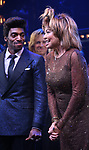 """Daniel J. Watts and Tina Turner during the """"Tina - The Tina Turner Musical"""" Opening Night Curtain Call at the Lunt-Fontanne Theatre on November 07, 2019 in New York City."""