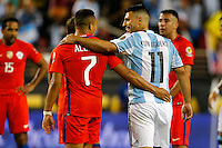 Action photo during the match Argentina vs Chile at Levis Stadium Copa America Centenario 2016. ---Foto  de accion durante el partido Argentina vs Chiler, En el Estadio de la Universidad de Phoenix, Partido Correspondiante al Grupo - D -  de la Copa America Centenario USA 2016, en la foto: Sergio Aguero<br /> --- 06/06/2016/MEXSPORT/PHOTOSPORT/ Andres Pina