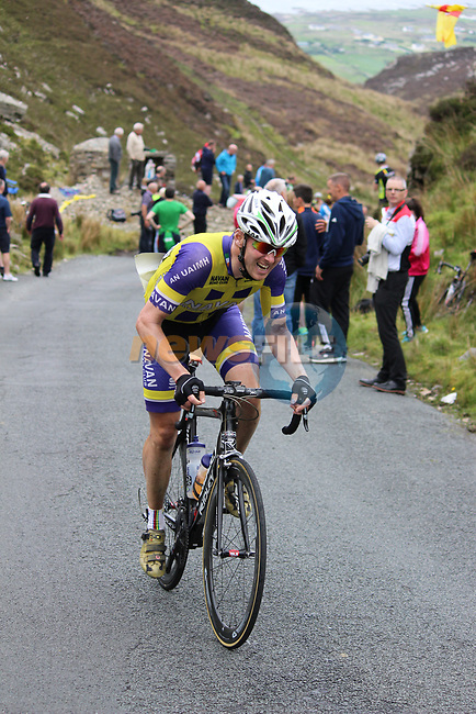 Ger Dunne Meath Navan Road Club on the first Cat 1 climb Mamore Gap during Stage 4 of the 2017 An Post Ras running 151.8km from Bundoran to Buncrana, Ireland. 24th May 2017.<br /> Picture: Andy Brady | Cyclefile<br /> <br /> <br /> All photos usage must carry mandatory copyright credit (&copy; Cyclefile | Andy Brady)