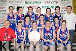 Tralee Imperials celebrate after winning the Senior Ladies title front row l-r: Gerard Murphy, Sinead Rath, Aisling O'Mahony, Linda Raymond, Karen Conway. Back row: Emma Sherwood, Sinead Mackessy, Regina Rath, Maeve Barry, Tara Guerin, Laura O'Sullivan, Lisa Brennan, Ashley campbell, Sabine Sayers and Liam Culloty