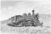 3/4 engineer's-side view of leased D&amp;RGW K-27 #452 on the RGS at Peake.<br /> RGS  Peake (Dallas Divide), CO  Taken by Richardson, Robert W. - 9/26/1951