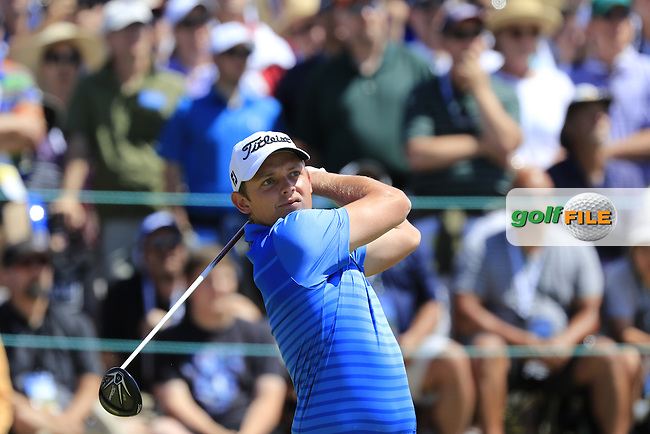 Cameron Smith (AUS) tees off the 1st tee to start his match during Sunday's Final Round of the 2015 U.S. Open 115th National Championship held at Chambers Bay, Seattle, Washington, USA. 6/21/2015.<br /> Picture: Golffile | Eoin Clarke<br /> <br /> <br /> <br /> <br /> All photo usage must carry mandatory copyright credit (&copy; Golffile | Eoin Clarke)