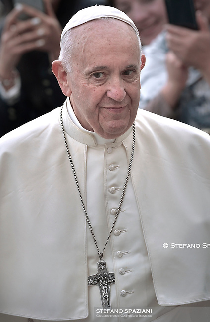 Pope Francis during of a weekly general audience at St Peter's square in Vatican, Wednesday.October 30, 2019