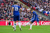 Chelsea's Eden Hazard scores his sides third goal       <br /> <br /> <br /> Photographer Craig Mercer/CameraSport<br /> <br /> Emirates FA Cup Semi-Final - Chelsea v Tottenham Hotspur - Saturday 22nd April 2017 - Wembley Stadium - London<br />  <br /> World Copyright &copy; 2017 CameraSport. All rights reserved. 43 Linden Ave. Countesthorpe. Leicester. England. LE8 5PG - Tel: +44 (0) 116 277 4147 - admin@camerasport.com - www.camerasport.com